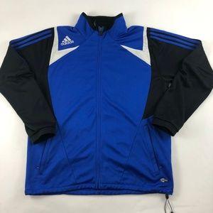 Adidas Blue Full Zip Clima365 Workout Track Jacket